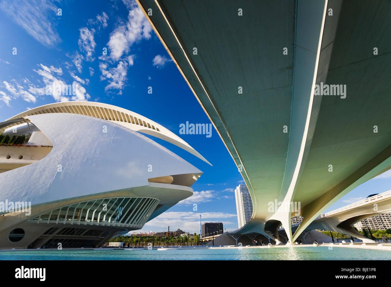 Spanien Valencia die Stadt der Künste und Wissenschaften Gebäude Stockbild