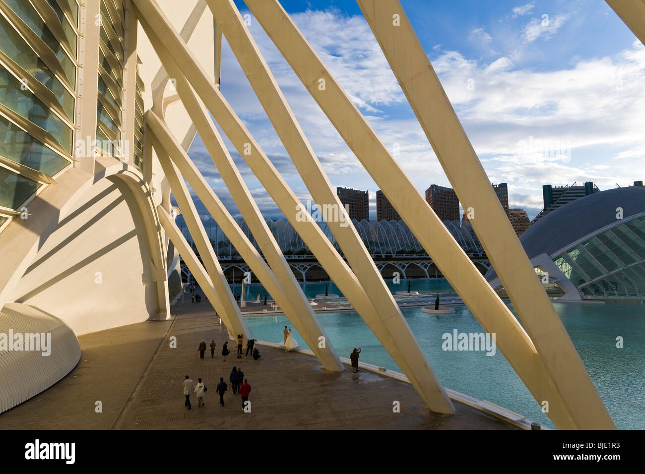 Die Stadt der Künste und Wissenschaften, die Bau-Valencia, Spanien Stockbild