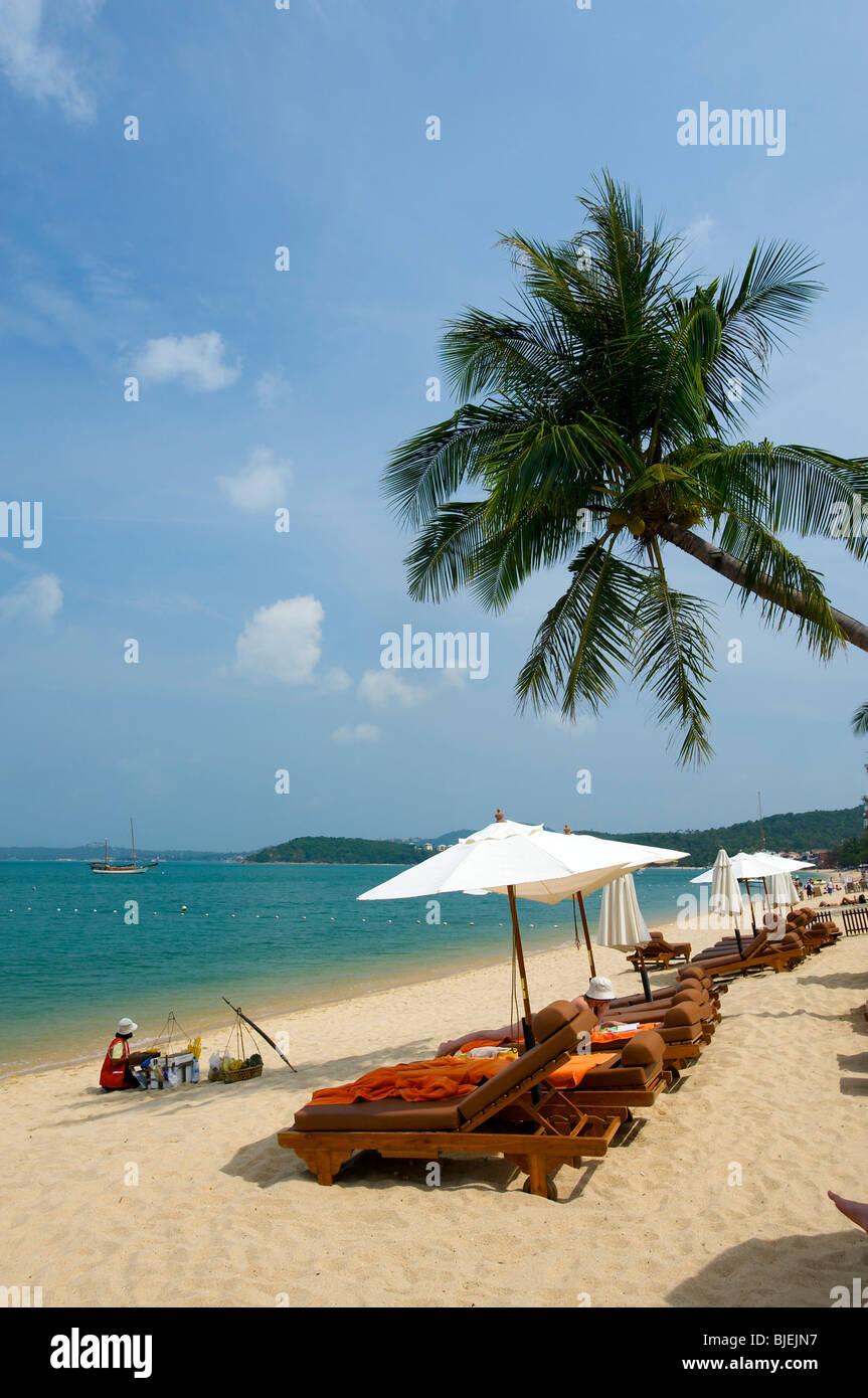 Mae Nam Beach, Insel Ko Samui, Thailand Stockbild