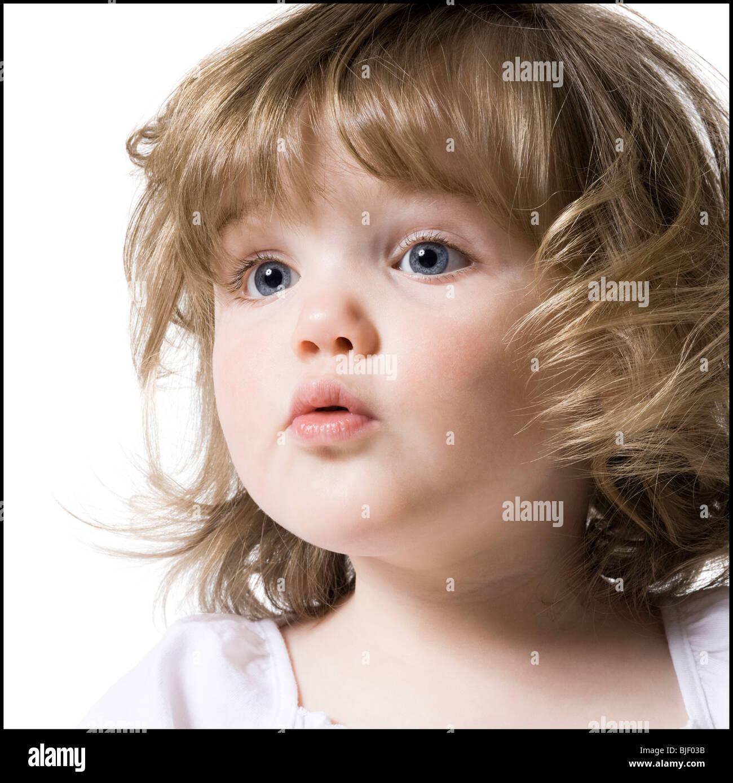 Nahaufnahme eines kleinen Mädchens Stockbild