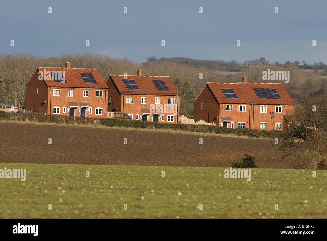 Solare Wasser Heizung Dachplatten Stockbild