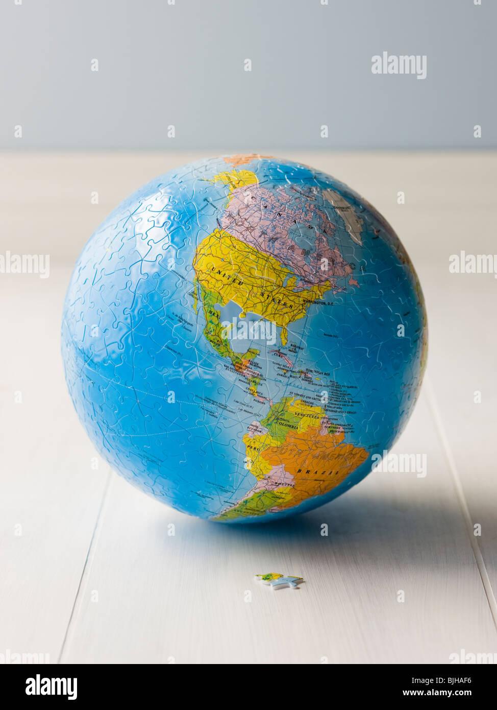 Planet Erde puzzle Stockbild