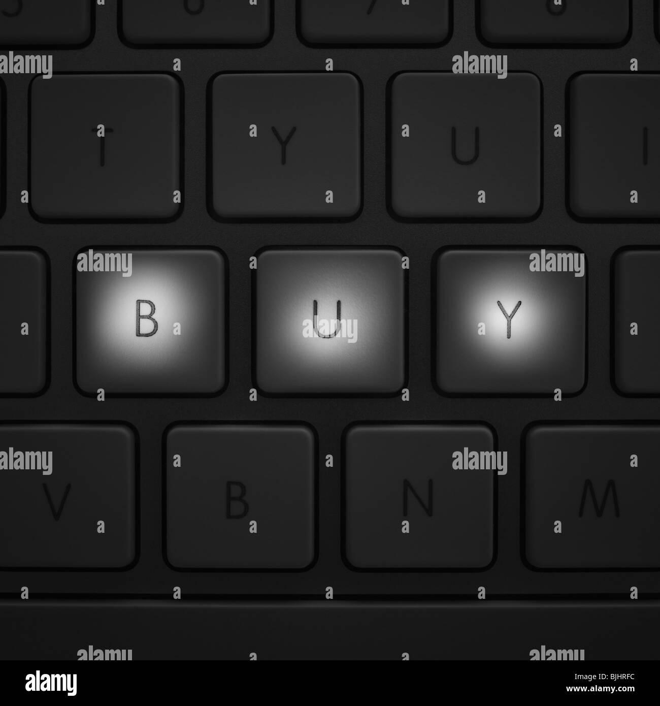 Tasten auf Tastatur Stockbild