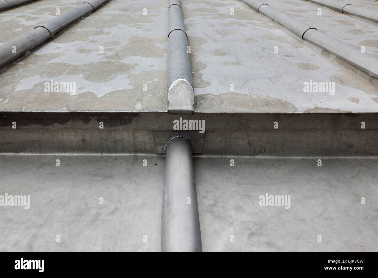 Architektur Dach Detail Blei Als Dachmaterial Verwendet Stockfoto