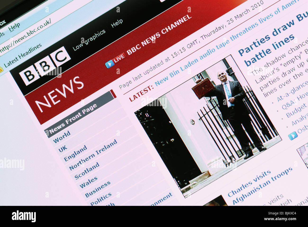 Schlagzeilen auf der Website