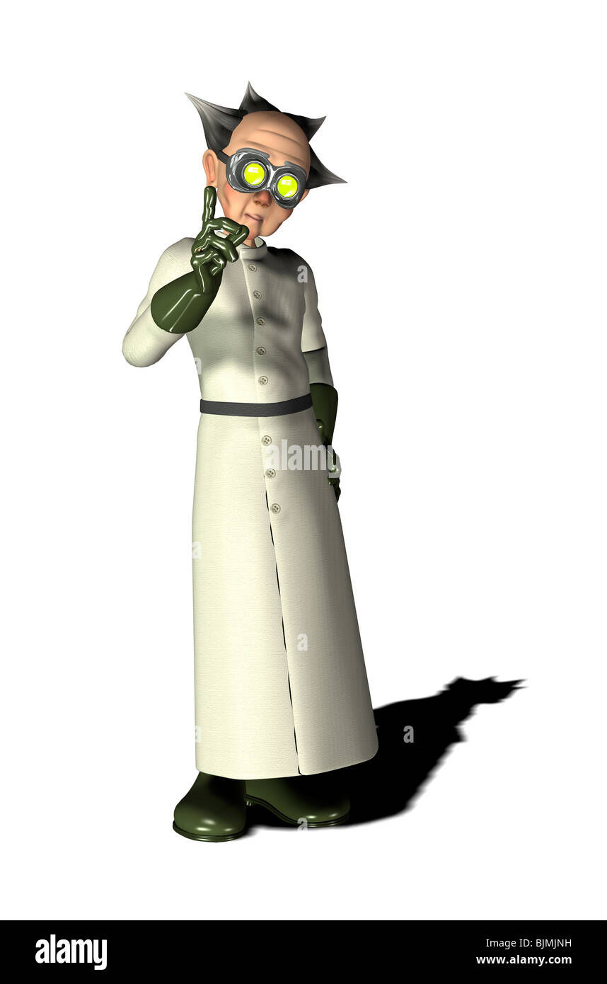 Mad Scientist Stockbild