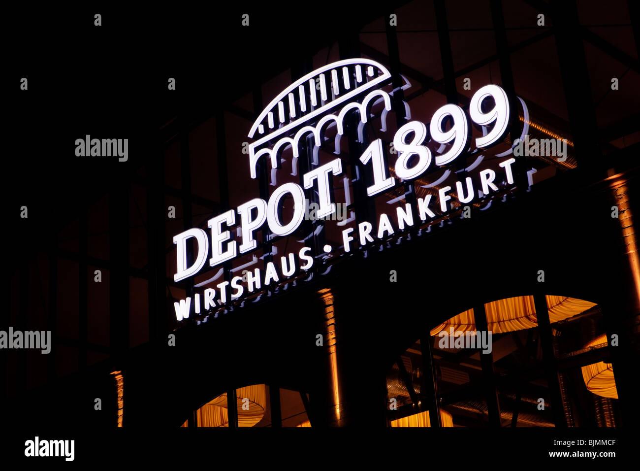 Das Depot 1899 Frankfurt Traditionsgasthaus Textorstrasse Straße