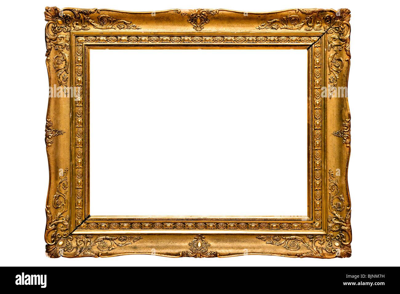 Vergoldete Bilderrahmen Stockbild