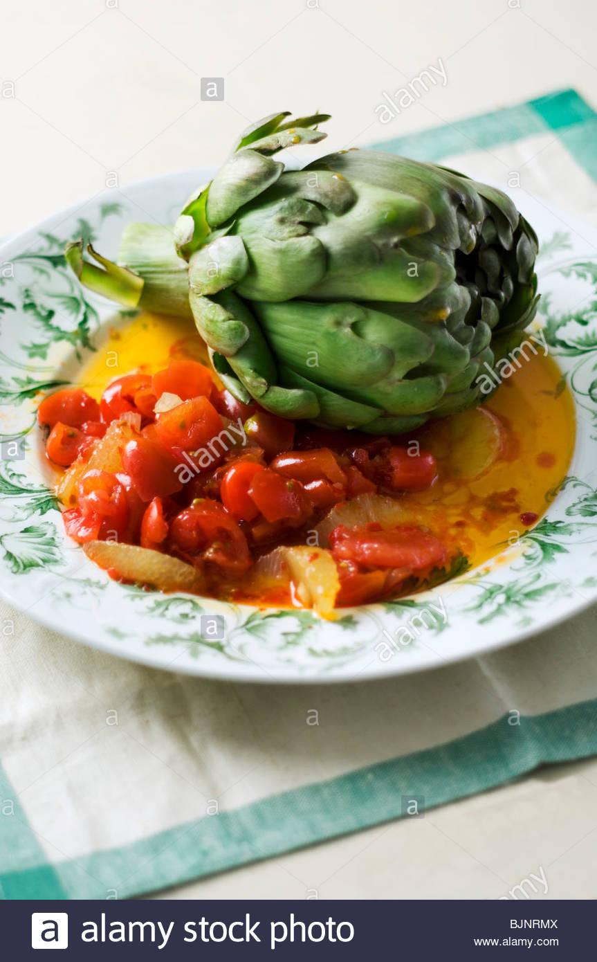 Achar (Gemüse, eingelegt in Öl, Indien) Stockbild