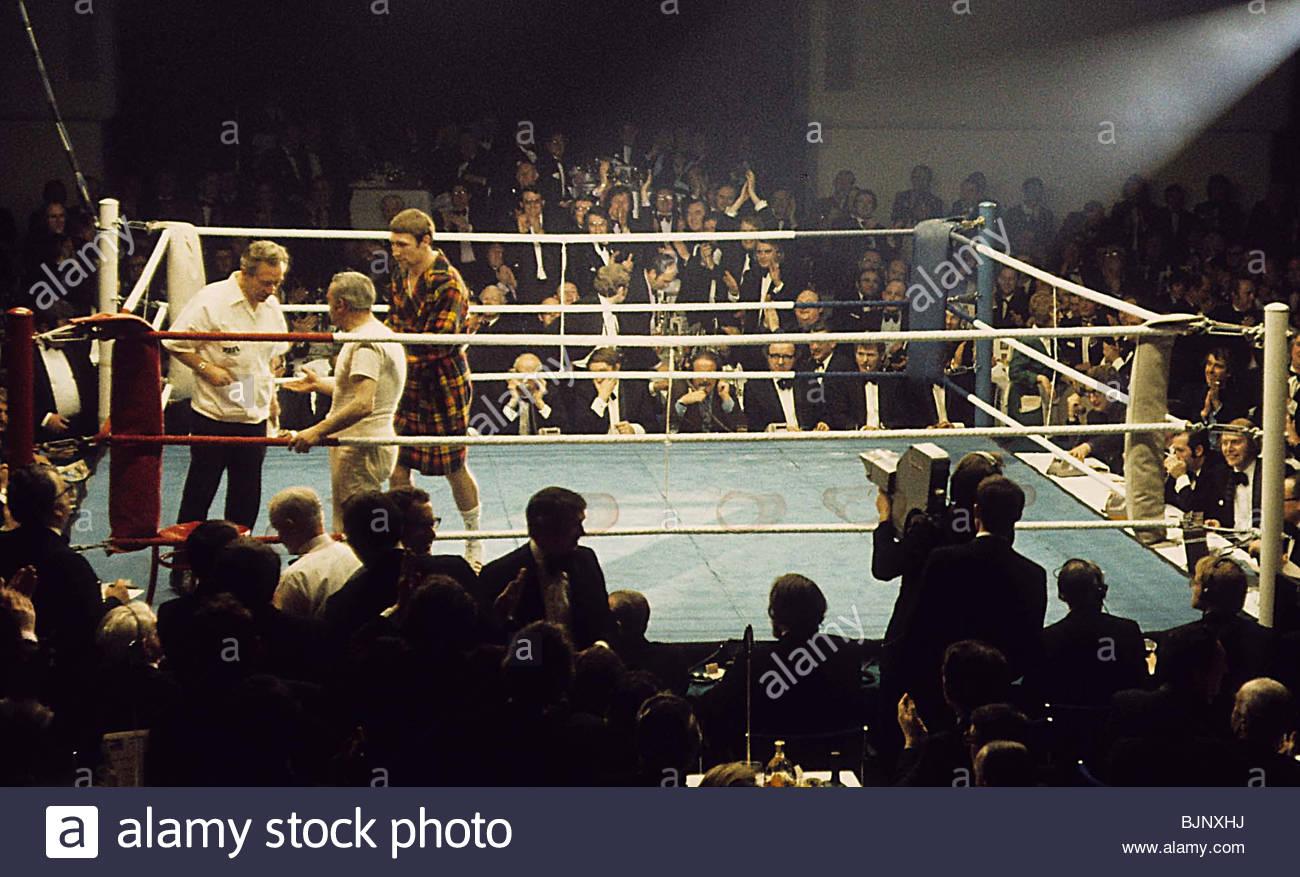 29.01.73 BRITISH LIGHTWEIGHT CHAMPIONSHIP JIM WATT V KEN BUCHANAN ALBANY HOTEL - Köpfe GLASGOW Ken Buchanan Stockbild