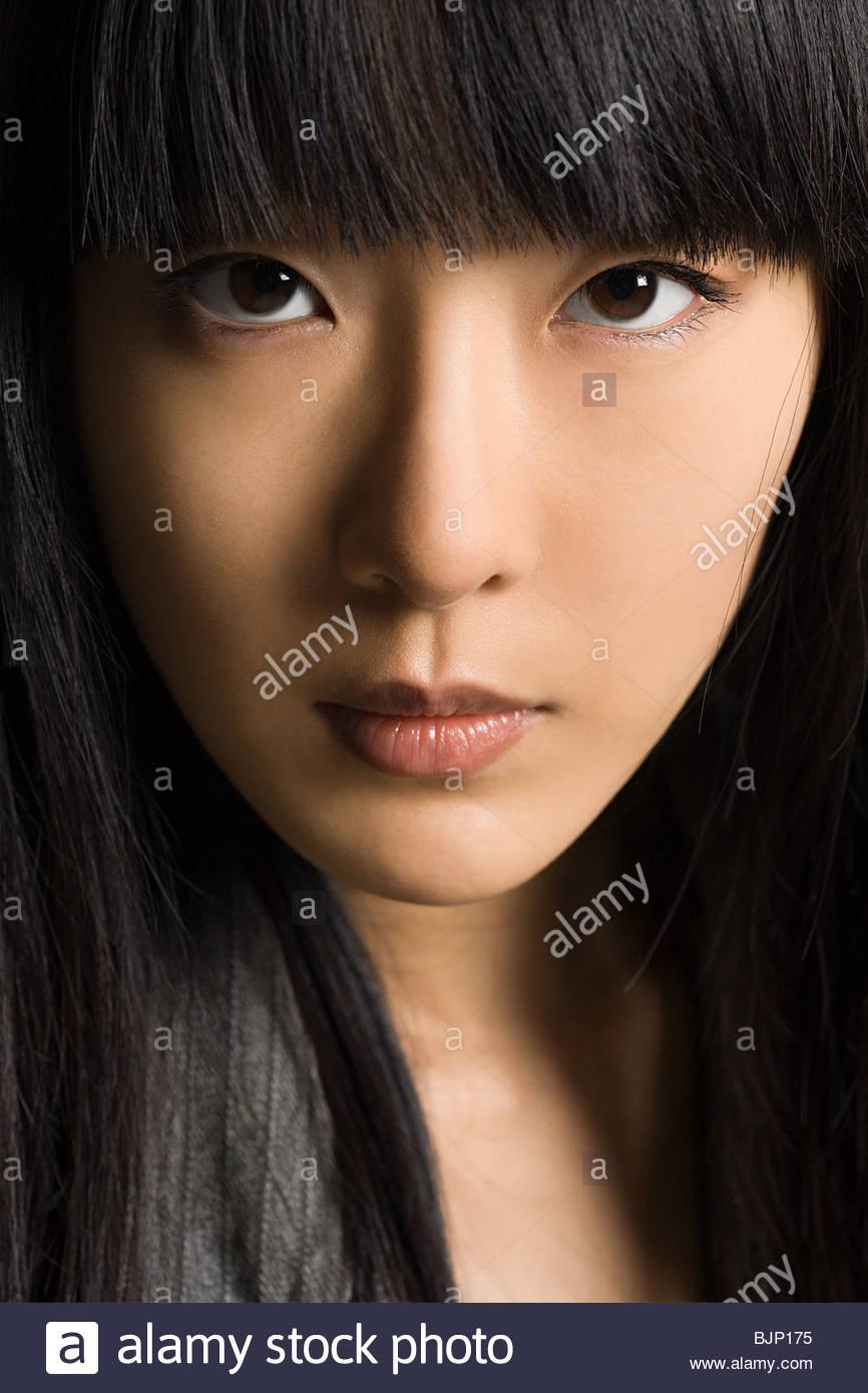 Gesicht einer jungen Frau Stockbild