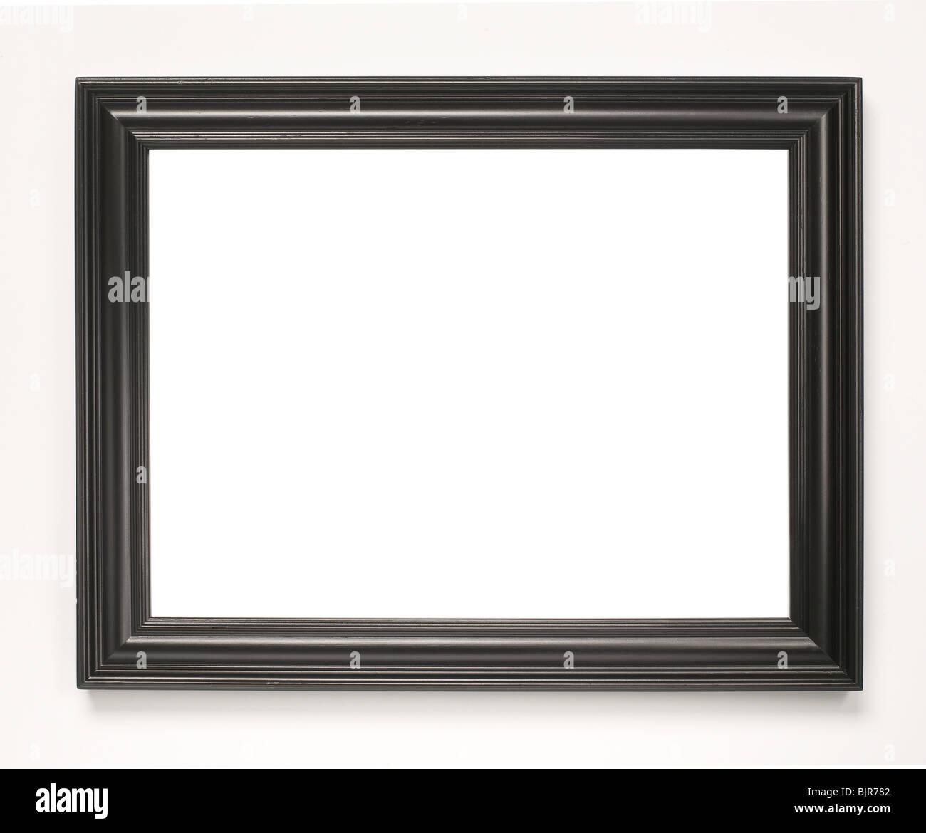 Schwarzes Holz Bilderrahmen Stockbild
