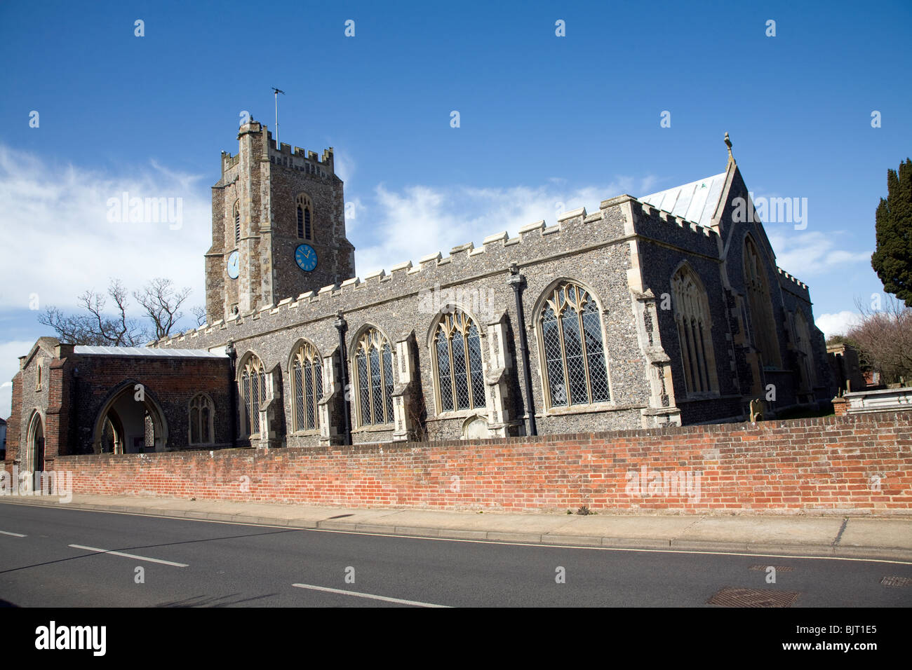 Pfarrkirche St. Peter & St Paul, Aldeburgh, Suffolk Stockbild