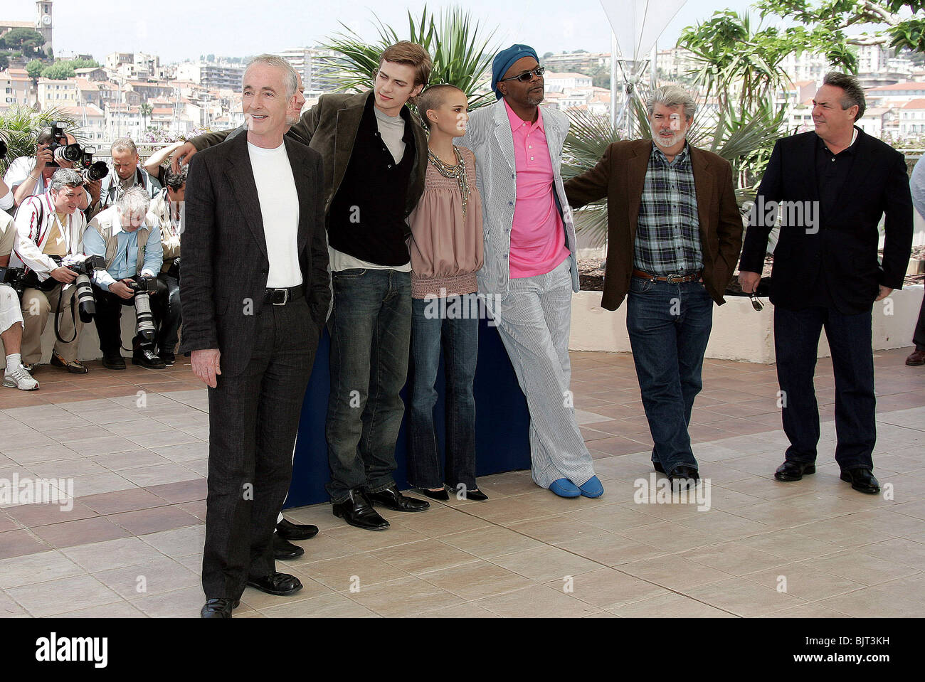 STAR WARS PHOTO CALL CANNES FILM FESTIVAL 2005 CANNES Frankreich 16 Mai 2005 Stockbild