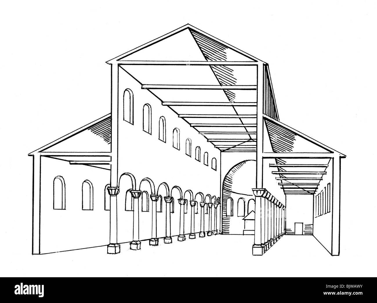 Architektur Grundriss Querschnitt Einer R 246 Mischen