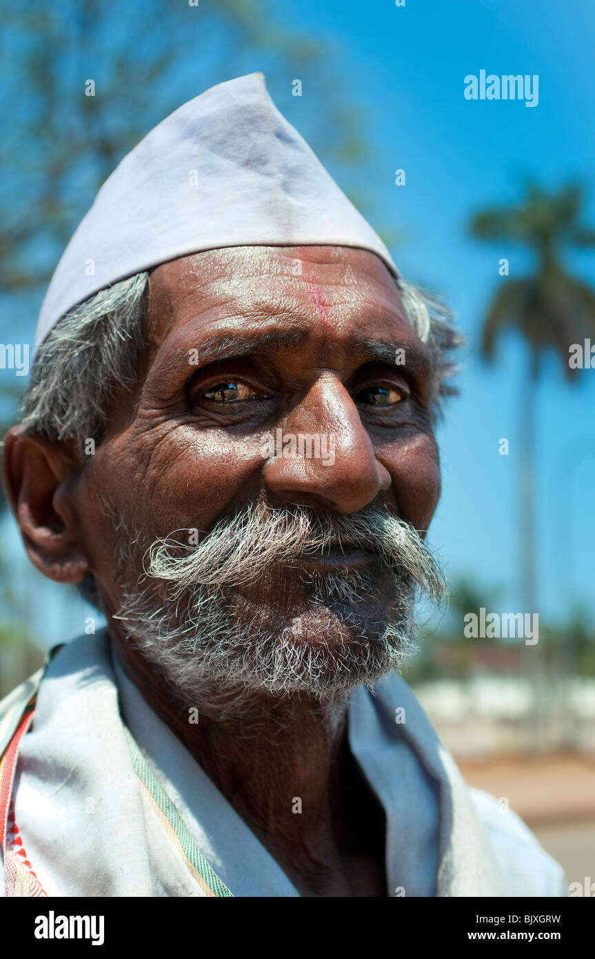 Mann, Goa, Indien Stockfoto