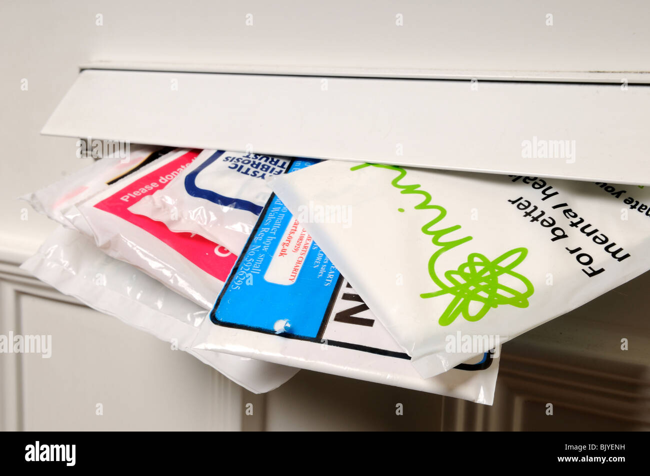 Sammelsäcke für wohltätige Zwecke. Stockbild