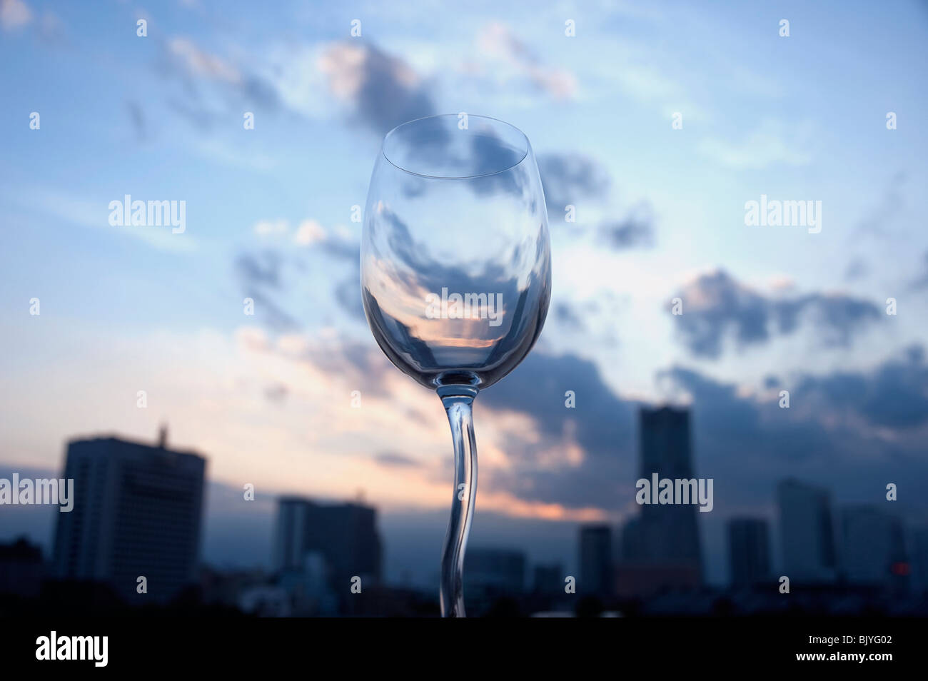 Glas und Hochhäusern Stockbild