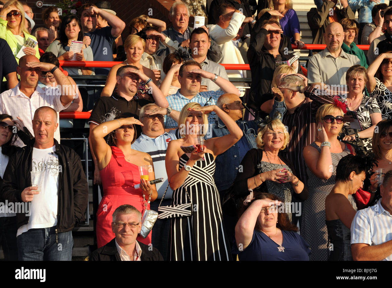 Ladies Night in Wolverhampton Racecourse... Stockbild