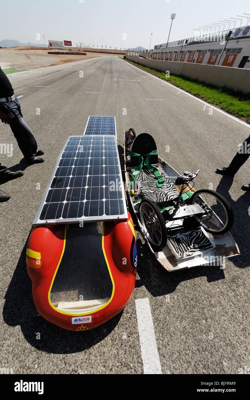 Solar betriebene Fahrzeug Stockbild