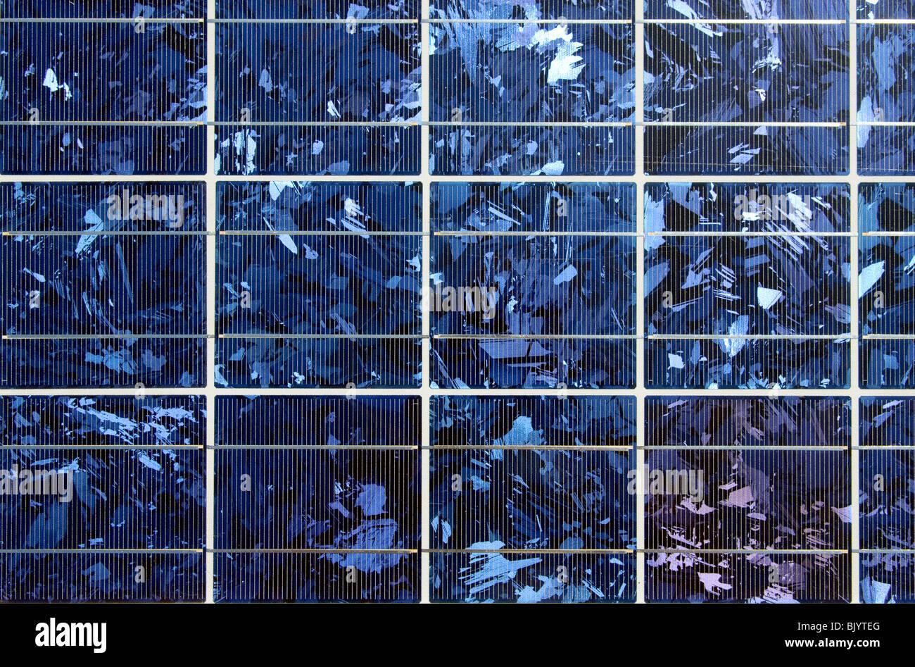 Nahaufnahme des Solarmoduls Stockbild