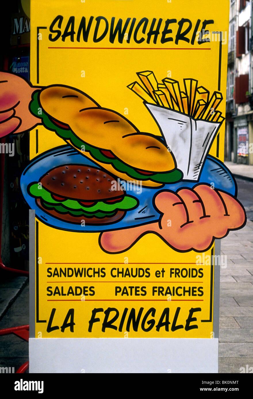 Zeichen, Menü, französisches Restaurant, französisches Essen und ...