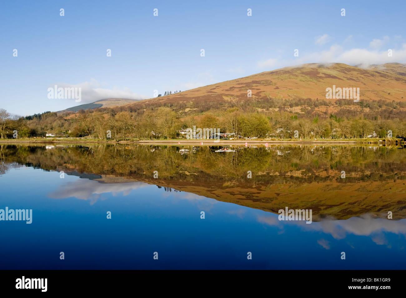 Blick vom Kajak Loch verdienen Perthshire Schottland Stockbild