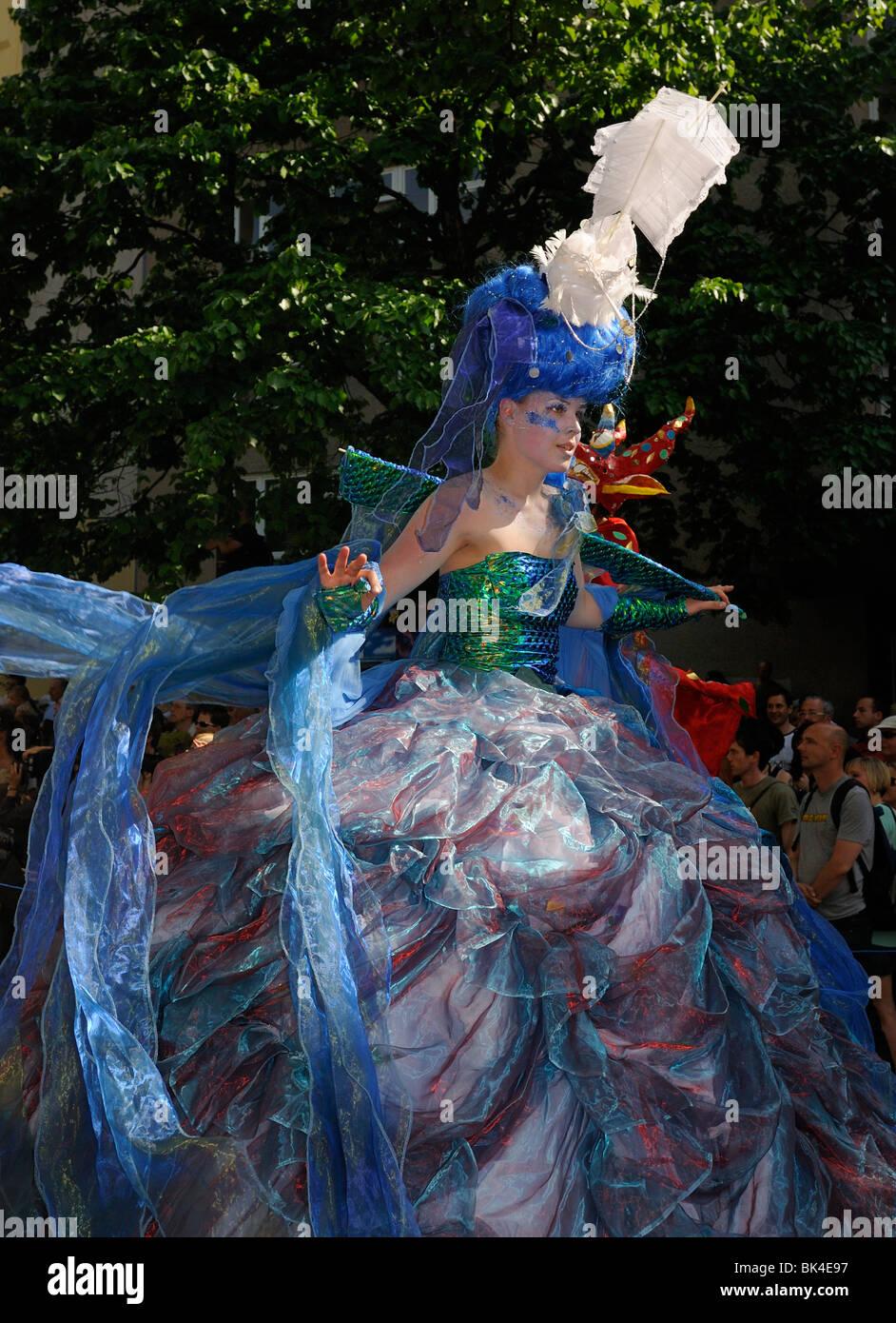 Karneval der Kulturen, Karneval der Kulturen, jährlichen berühmten Streetparade auf Pfingsten, Bezirk Stockbild
