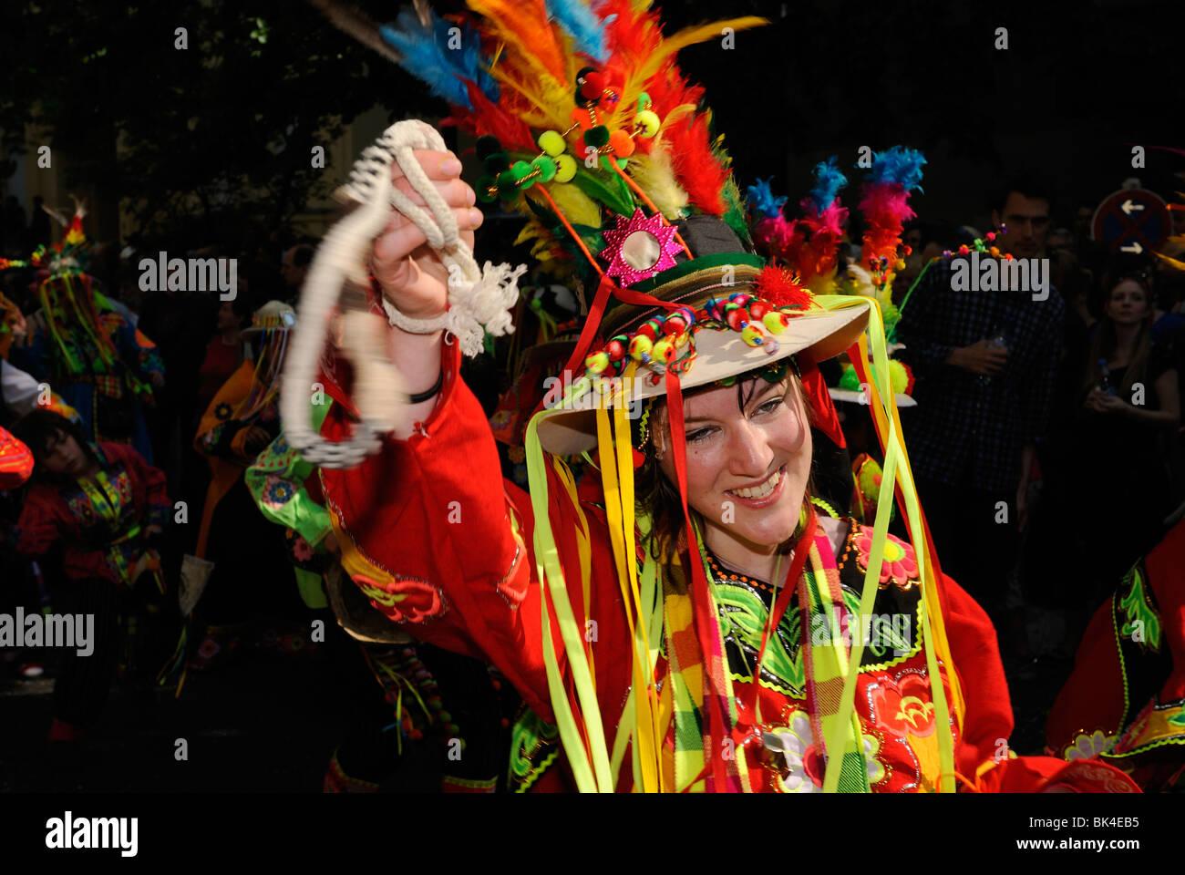 Karneval der Kulturen, Karneval der Kulturen, berühmte jährliche Straßenparade am Pfingstwochenende, Stockbild