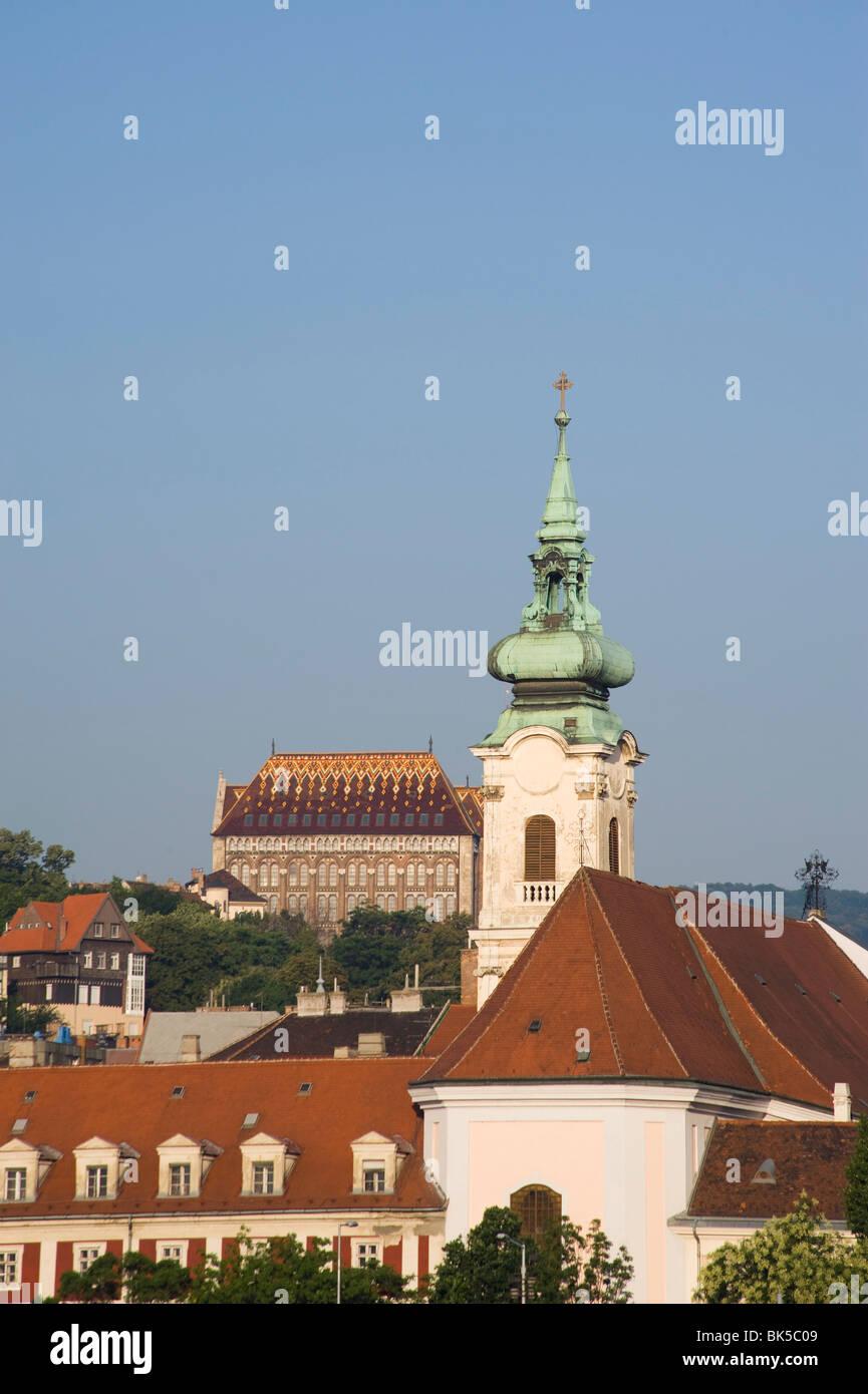 Kirchen auf der Budaer Seite, Budapest, Ungarn, Europa Stockbild