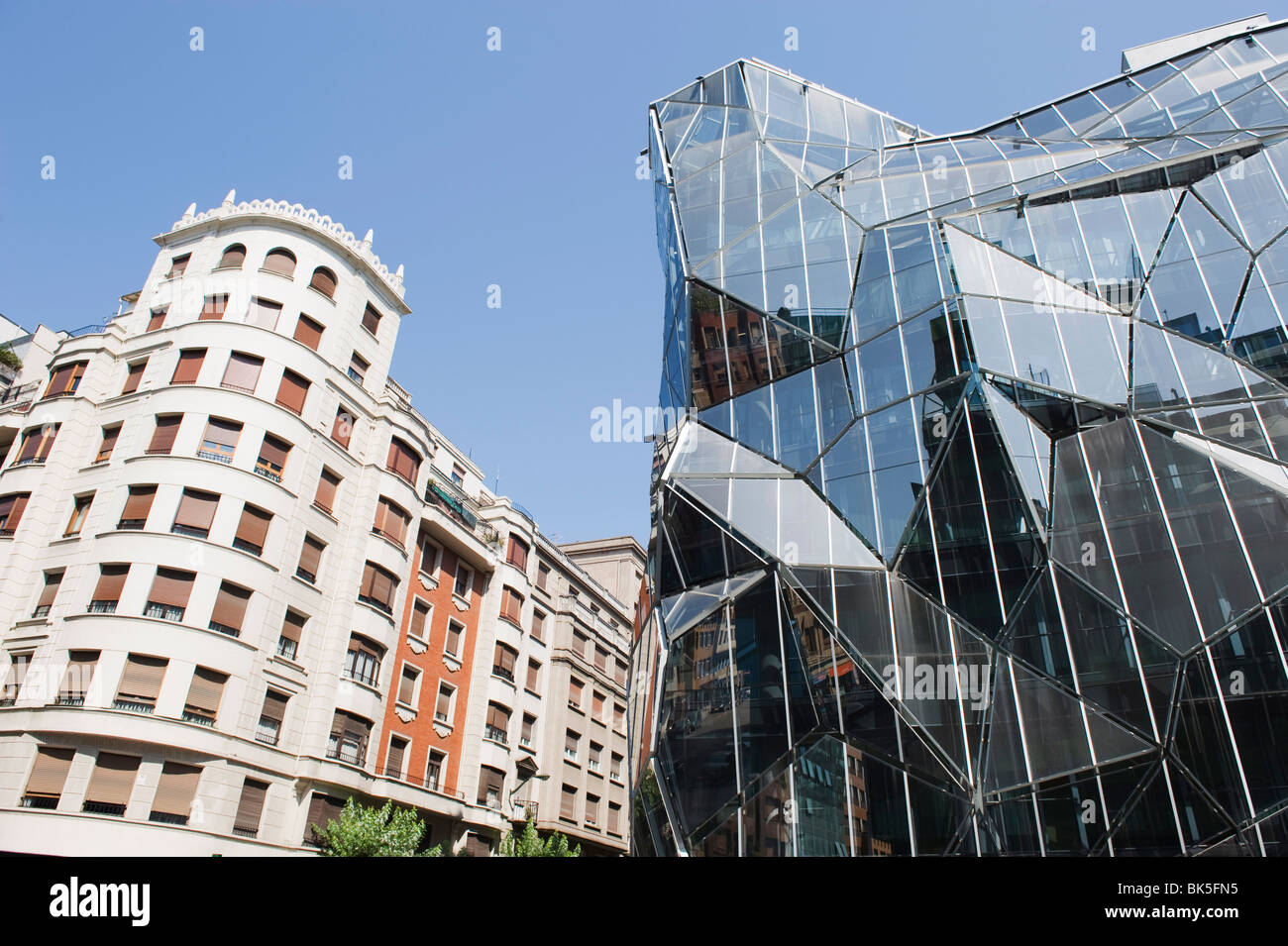 Moderne Architektur des Department of Health, Bilbao, Baskisches Land, Spanien, Europa Stockbild