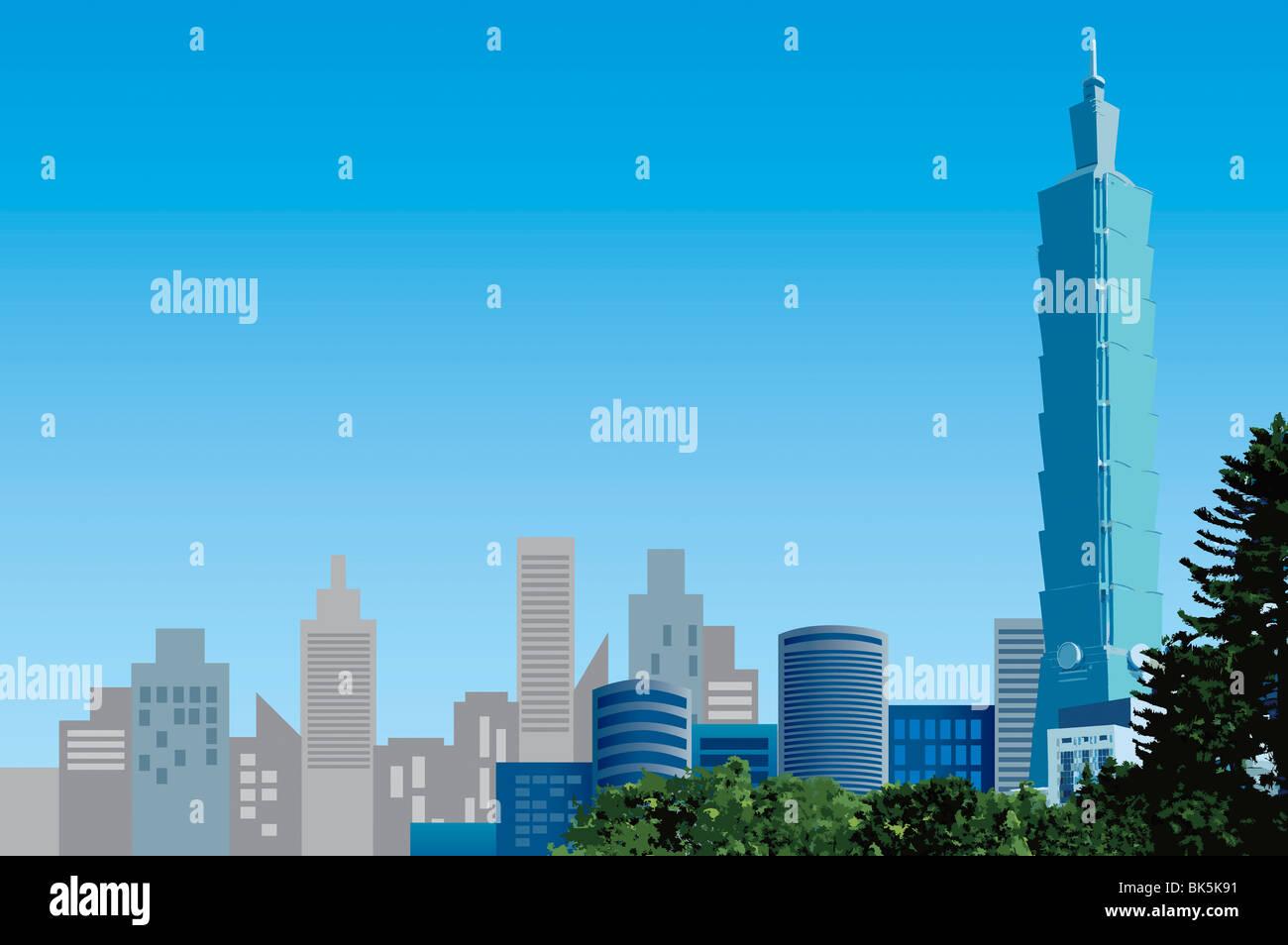 China, Taiwan, Taipei, Taipei 101, Hauptstädte Stockbild