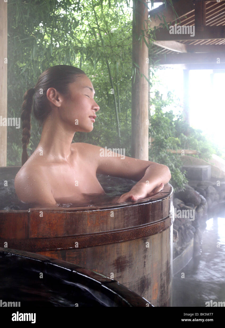 Thermalbad im brillanten Resort and Spa in Kunming, Provinz Yunnan, China, Asien Stockbild