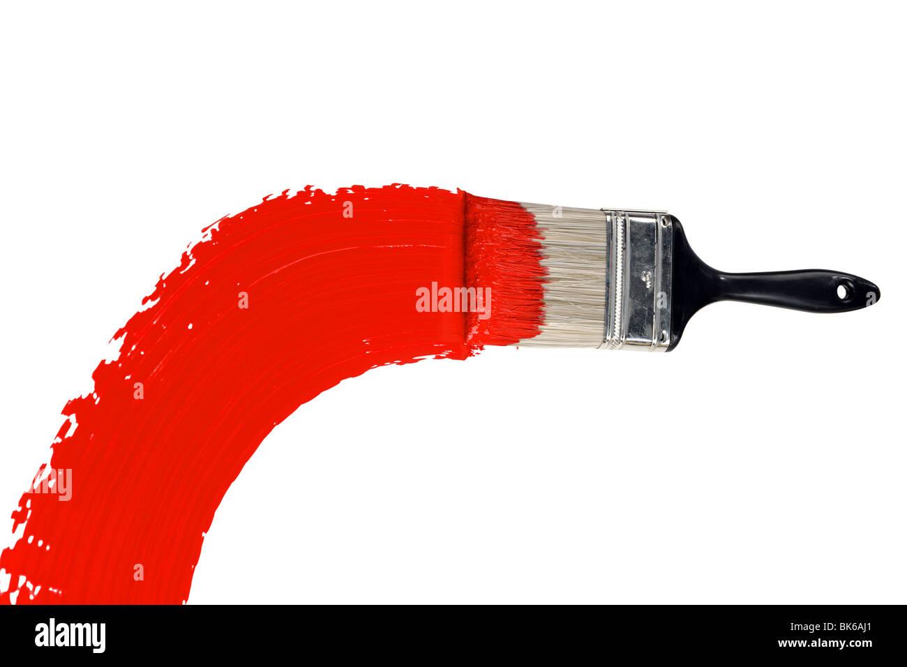 pinsel mit roter farbe auf wei em hintergrund isoliert stockfoto bild 29028889 alamy. Black Bedroom Furniture Sets. Home Design Ideas