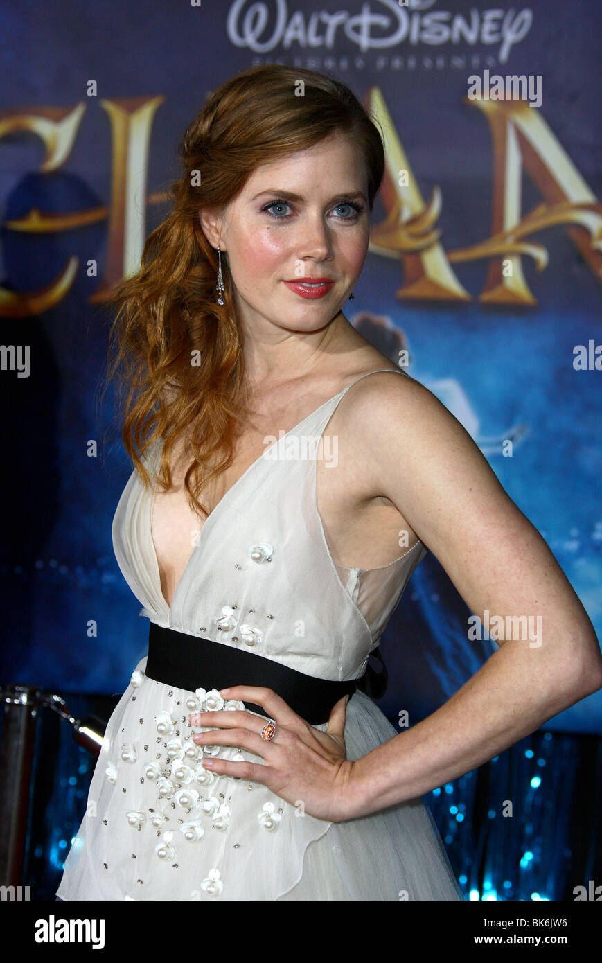 AMY ADAMS verzauberte Welt PREMIERE HOLLYWOOD LOS ANGELES USA 17. November 2007 Stockbild