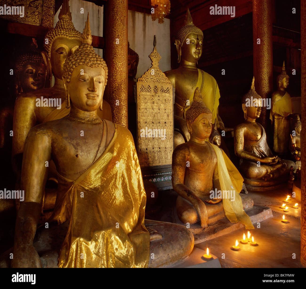 Sammlung von 15. Jahrhundert Lanna und frühen Ayutthaya Bilder heute im Wat Chiang Man, Chiang Mai, Thailand Stockbild