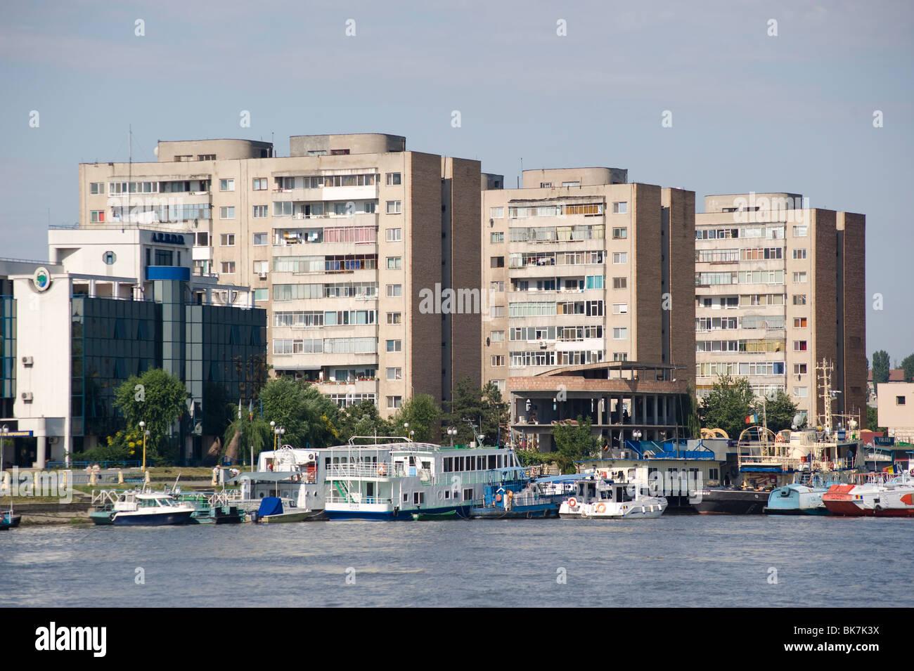 Wohnung Hochhäuser, Tulcea, Rumänien, Europa Stockbild