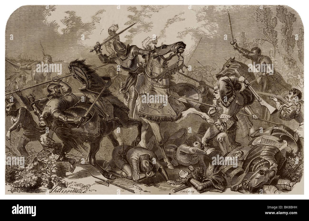 Am 24. Februar 1525, als Bestandteil der sechsten italienischen Krieg, Schlacht von Pavia. Stockbild