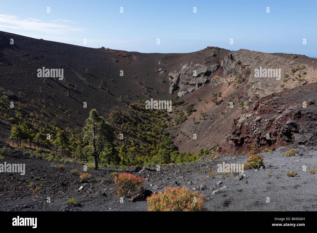 San Antonio-Vulkan in der Nähe von Fuencaliente, La Palma, Kanarische Inseln, Spanien, Europa Stockbild