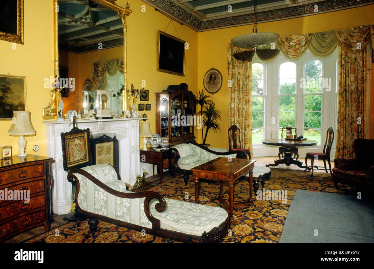 County Longford, Irland-Eire innen irische viktorianischen Landhaus ...