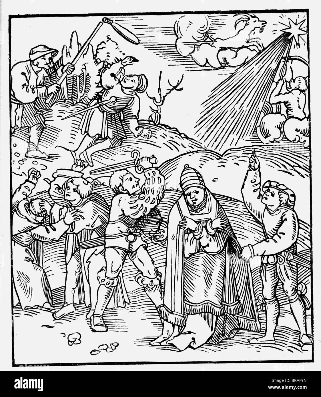 Ereignisse, die protestantische Reformation, 1517-1555, Additional-Rights-Spiel-NA Stockbild
