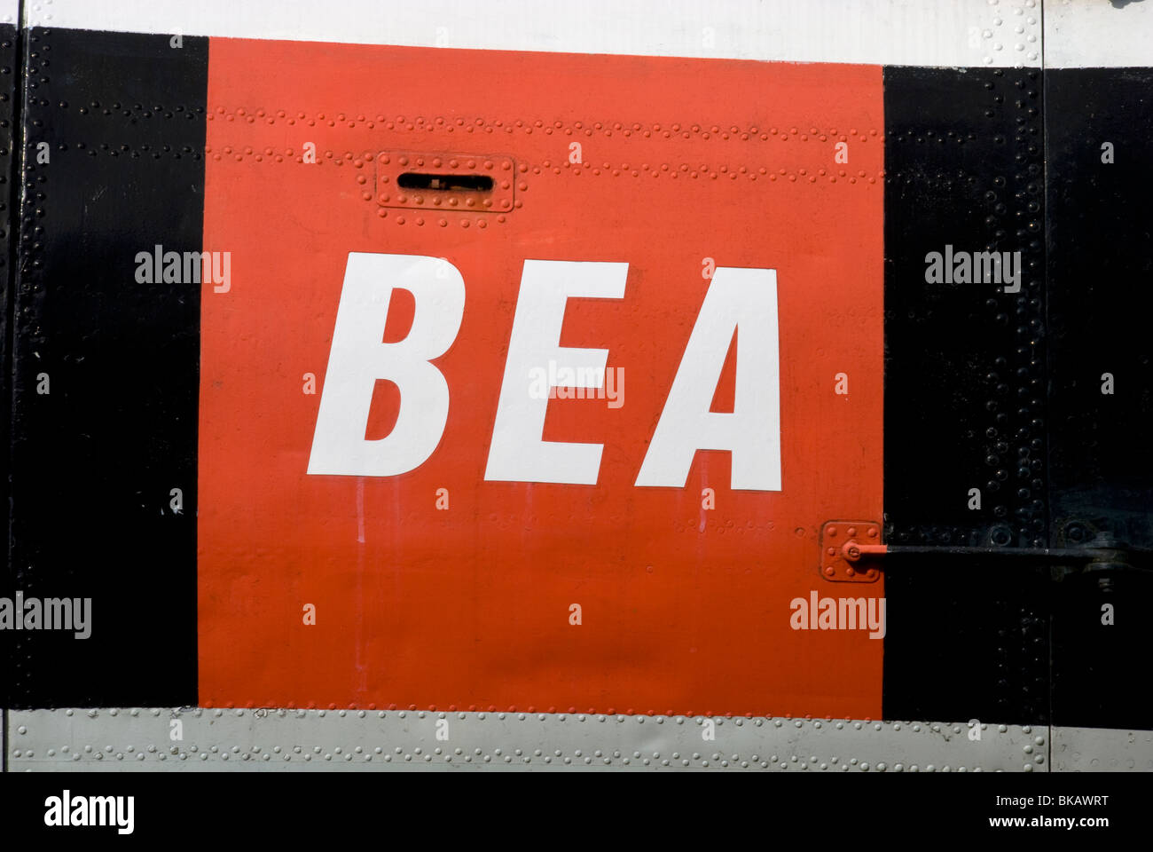 BEA Logo british european airways Stockbild
