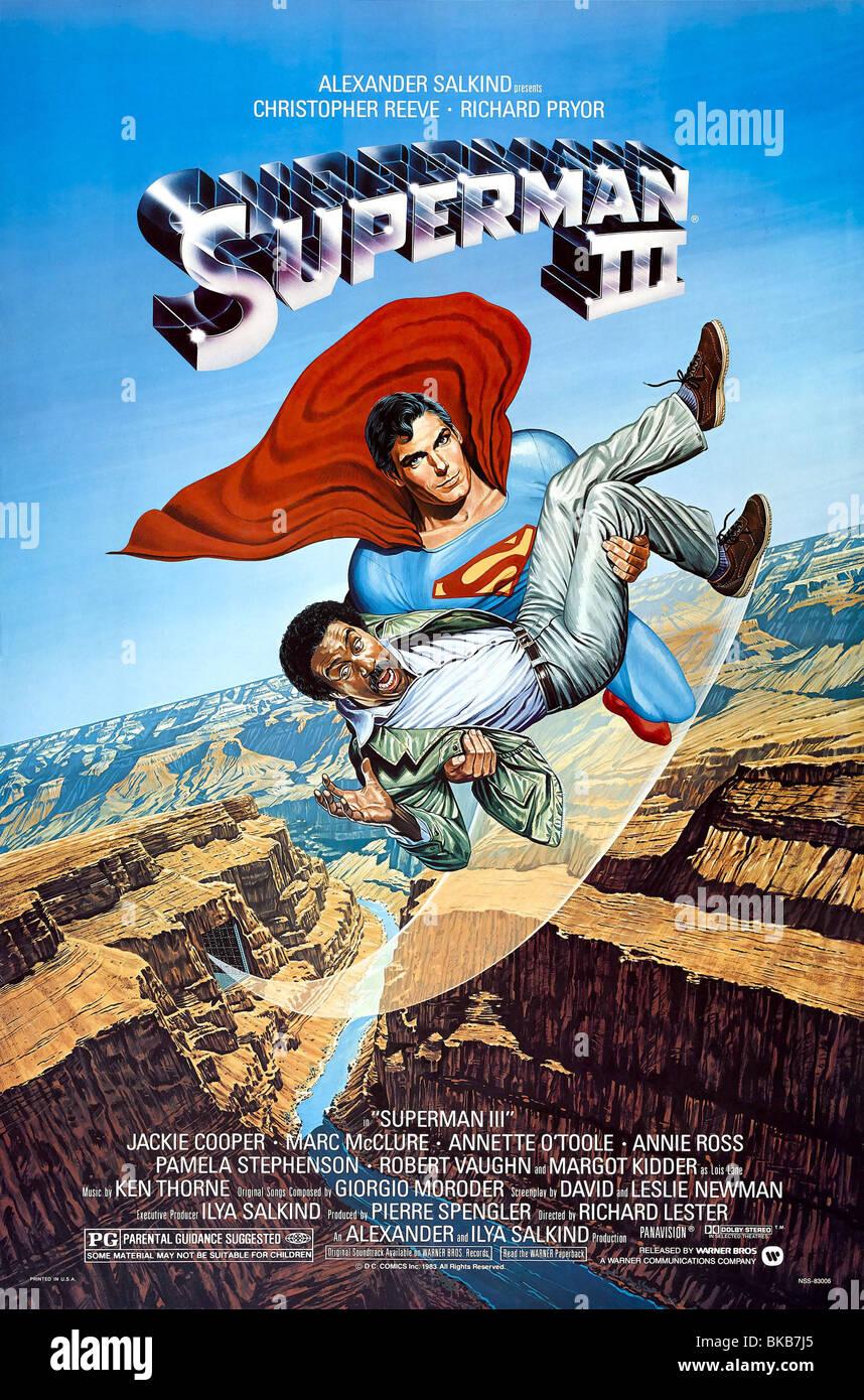 Superman 3 Jahr: 1983-Regie: Richard Lester Movie Poster (USA) Stockbild