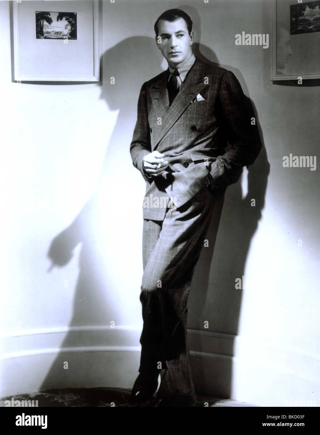 GARY COOPER PORTRAIT Stockbild