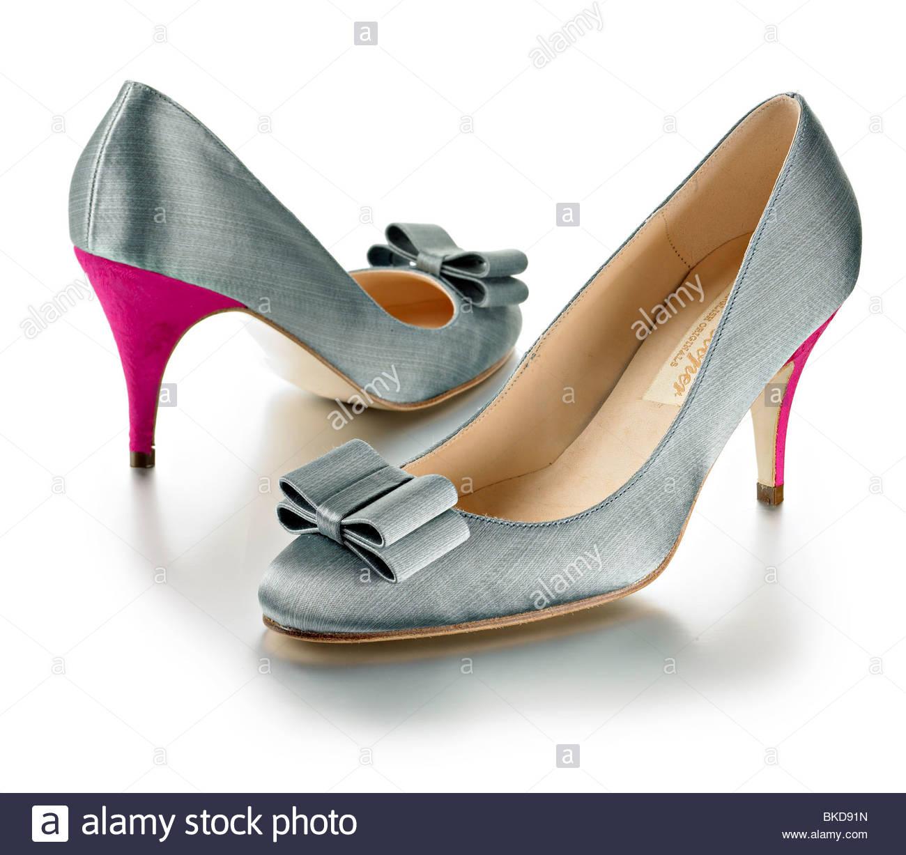 klassische Damen hochhackige Schuhe Stockbild