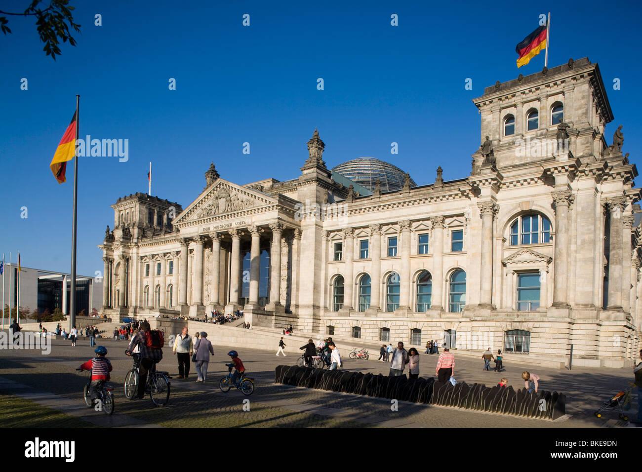Reichstagsgebäude, im Freien, Berlin, Deutschland, Europa Stockbild