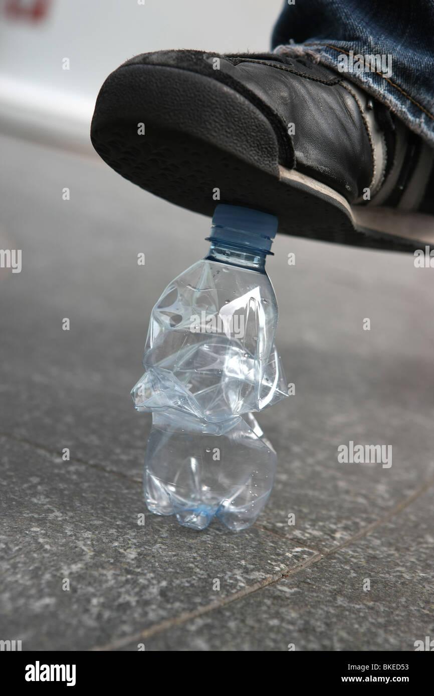 Recycling, Flasche, Kunststoff, Umweltverschmutzung, Ökologie Stockbild