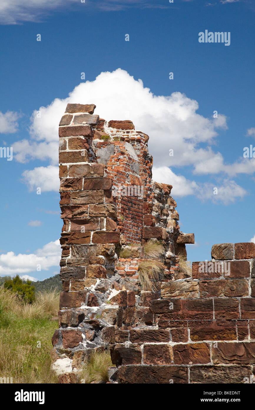Ruinen, Sarah Island (historische Convict Station), Maquarie Hafen, westlichen Tasmanien, Australien Stockbild