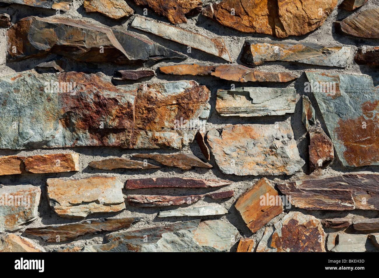 Steinmauer für Nutzung im Hintergrund Stockbild