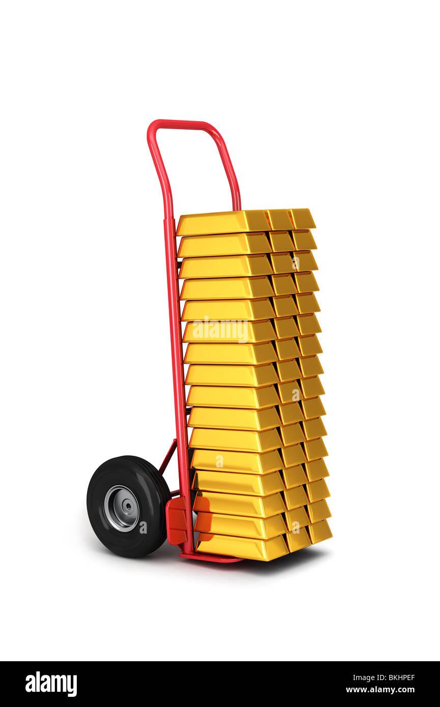Gold Lieferung Stockbild